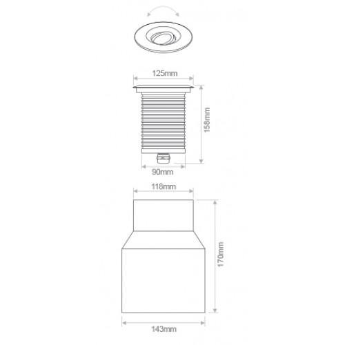 Uncategorized, LED grindinis šviestuvas, CANIS, 6,4W