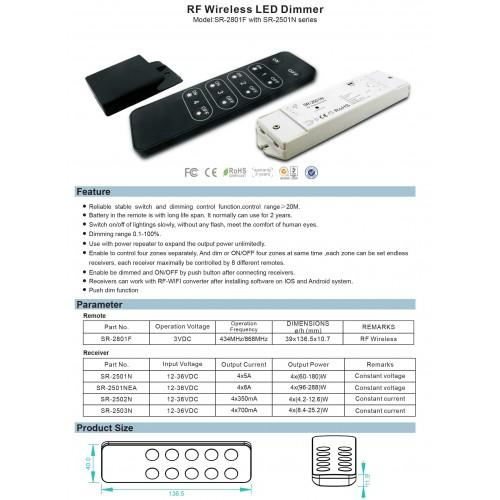 Led lighting controls, LED light intensity remote control 3VDC