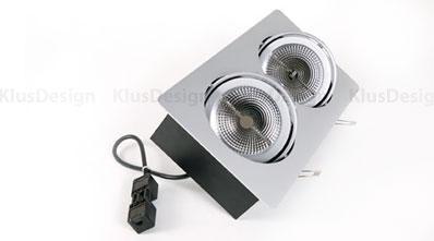 Biuro apšvietimas, LED (светодиодный) потолочный светильник ARRAY 1x2 22W