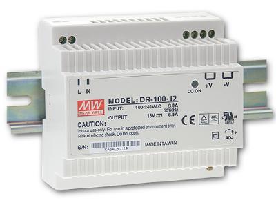 Maitinimo šaltiniai, LED maitinimo šaltinis 100W ant DIN bėgelio