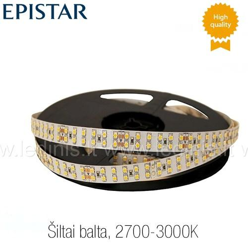 KPU LIGHTING, 19.2W LED juosta 3528 (šiltai balta) (24V)
