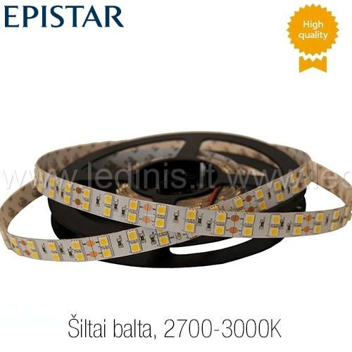 KPU LIGHTING, 28.8W LED juosta 5050 (šiltai balta) (24V)