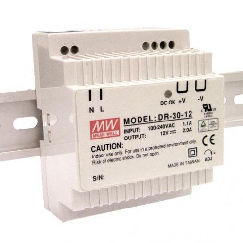 Maitinimo šaltiniai, LED maitinimo šaltinis 30W ant DIN bėgelio
