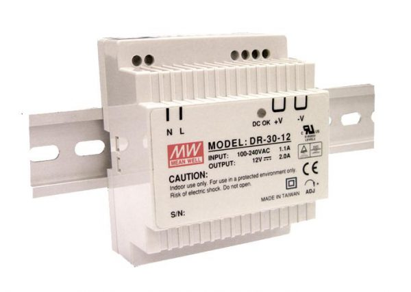 MEAN WELL, LED power supply 30W on DIN rail