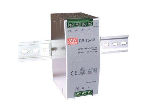 Источники питания, Источник питания LED 75 Вт на DIN-рейке
