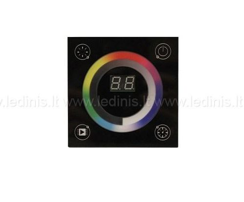 Led lighting controls, Led RGBW wall control panel with touch screen (220V)
