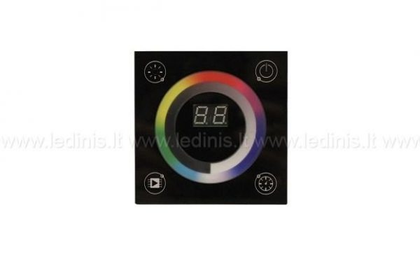 Led apšvietimo valdikliai, LED sieninis RGBW valdiklio pultas lietimui jautriu ekranu (220V)