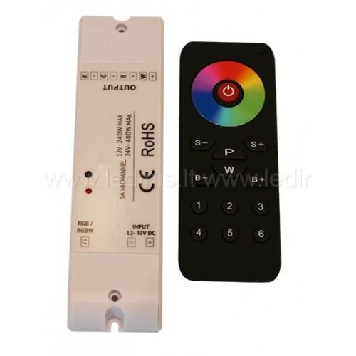 Led apšvietimo valdikliai, LED RGBW valdiklis (imtuvas) 12-24V
