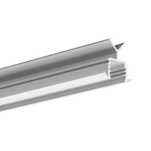 Aliuminio profiliai, POR anoduotas, turėklui
