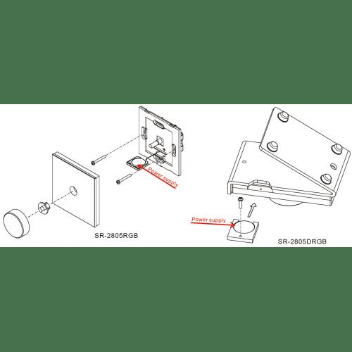 Led apšvietimo valdikliai, LED sieninis šviesos intensyvumo reguliatorius 3VDC