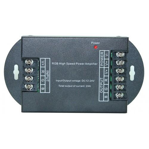 Led lighting controls, RGB signal amplifier-repeater (288W)