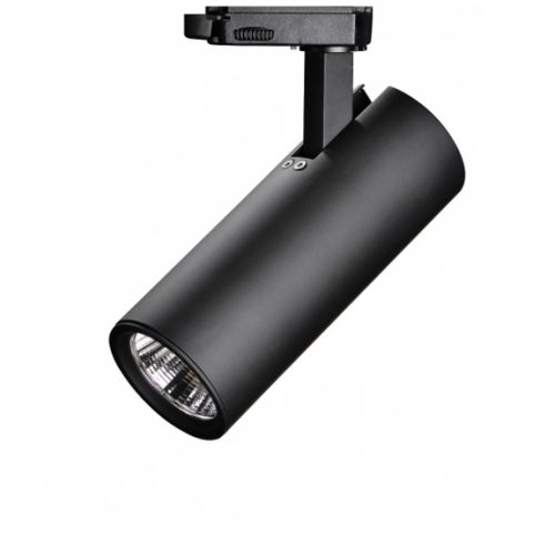 Entertainment and public spaces lighting, Black LED Light on RIO rail, 3000K, 12W