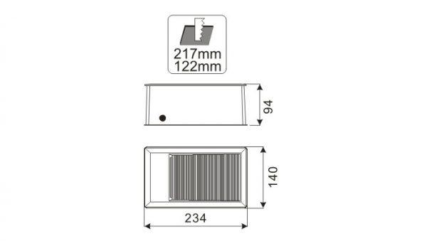 Howell, Įleidžiamas sieninis šviestuvas IP65 HL-G02801