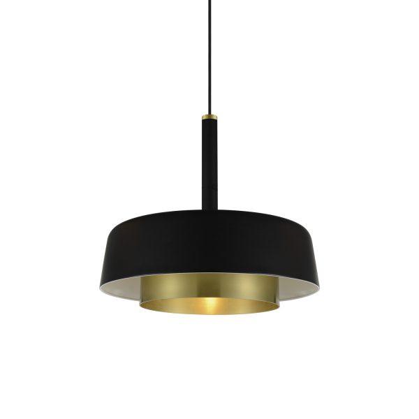 Gamintojai, Pakabinamas juodos ir auksinės spalvos šviestuvas Ø390