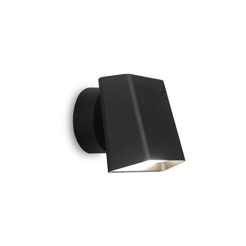 Bedroom lighting, Black rectangular wall light