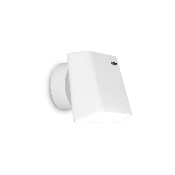 Bedroom lighting, White rectangular wall light