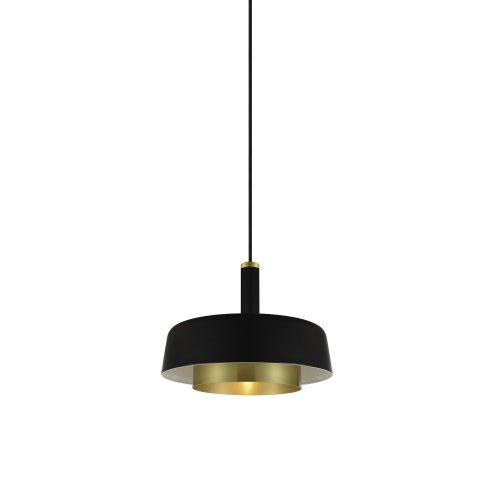Dining room lighting, Suspended black and gold light Ø250