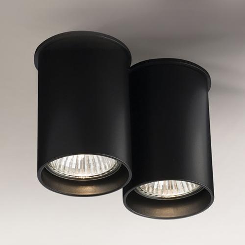 Koridoriaus apšvietimas, Lubinis šviestuvas Arida 1112 juodas