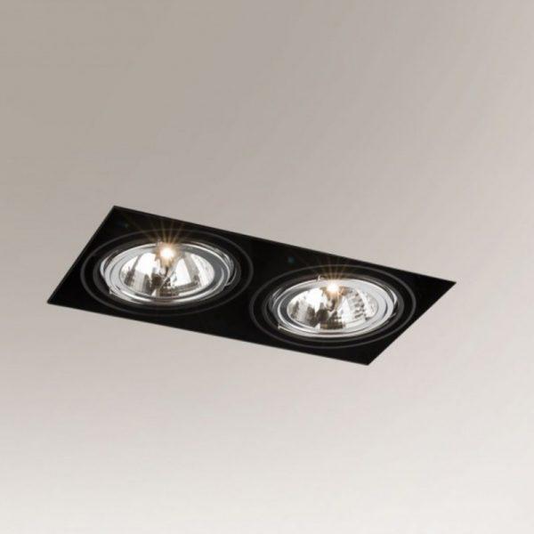 Berėmiai užglaistomi šviestuvai, Įmontuojamas šviestuvas Komoro 3309 juodas