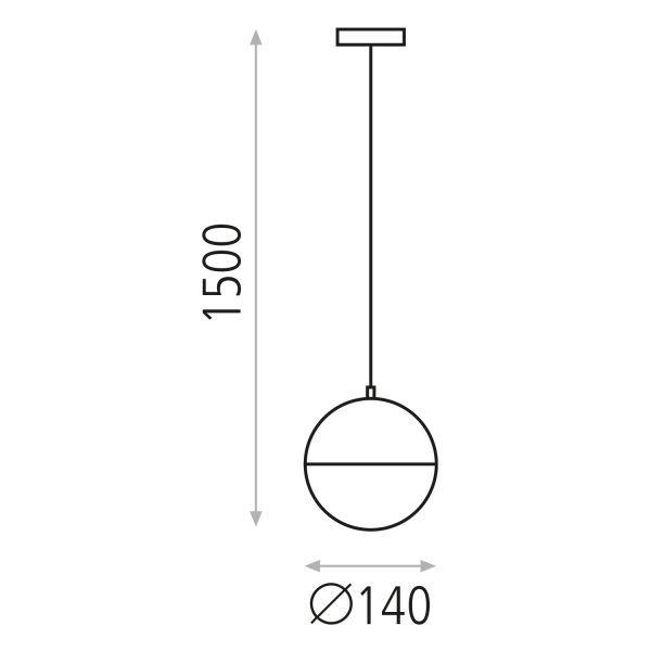 ACB Iluminacion, Suspended light SHIRU E27