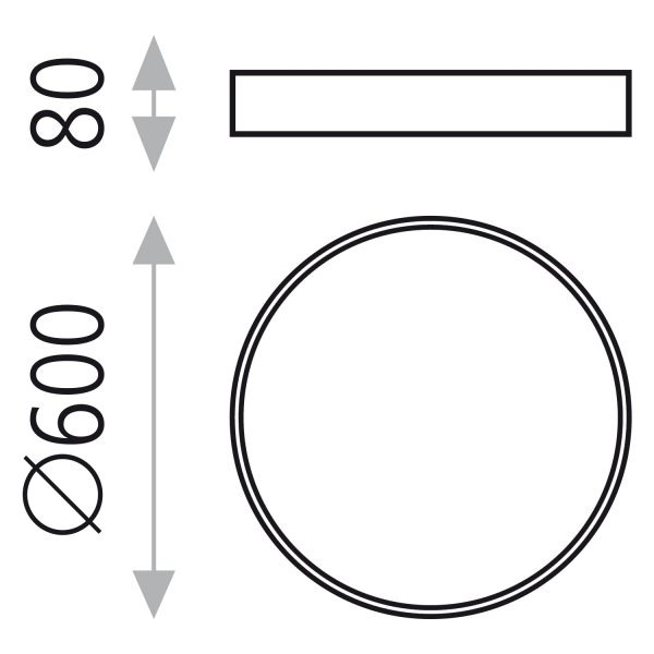 ACB Iluminacion, Lubinis šviestuvas MINSK LED 3000K 42W 60cm juodas