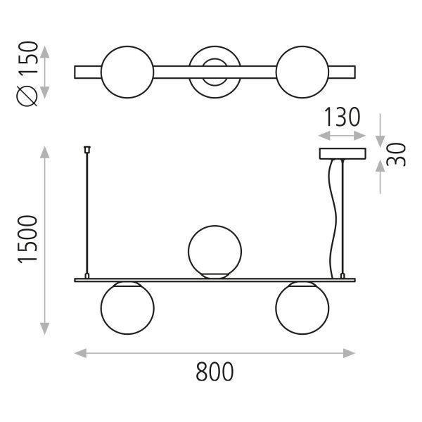 ACB Iluminacion, Suspended light KIN 3x5W 3000k