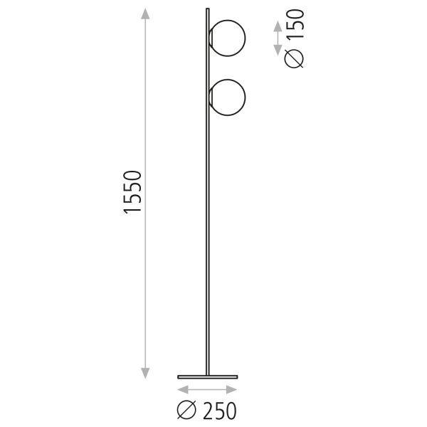 ACB Iluminacion, Pastatomas šviestuvas KIN LED 3000k juodas