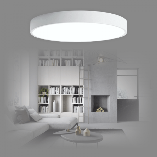 Bedroom lighting, 2x48W Round ceiling LED light BOSTON