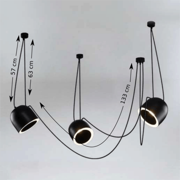 Bedroom lighting, Suspended light DOBO 9037- DOHAR Black