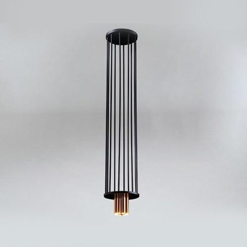 Koridoriaus apšvietimas, Pakabinamas-lubinis šviestuvas IHI 9006 DOHAR juodas su vario spalvos apačia