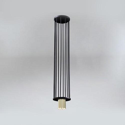 Koridoriaus apšvietimas, Pakabinamas-lubinis šviestuvas IHI 9006 DOHAR juodas su aukso spalvos apačia