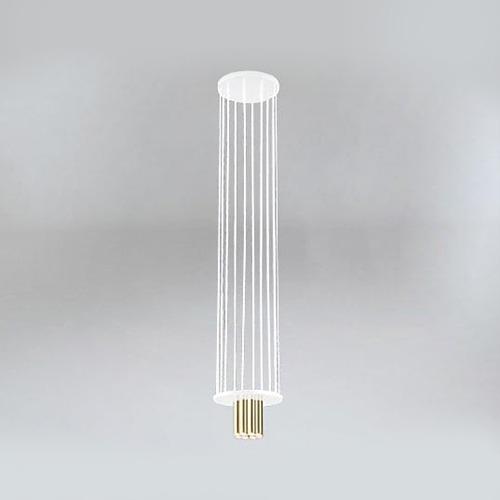 Koridoriaus apšvietimas, Pakabinamas-lubinis šviestuvas IHI 9006 DOHAR baltas su aukso spalvos apačia