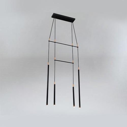 Bedroom lighting, Black light with copper-coloured elements ALHA H 9012 DOHAR