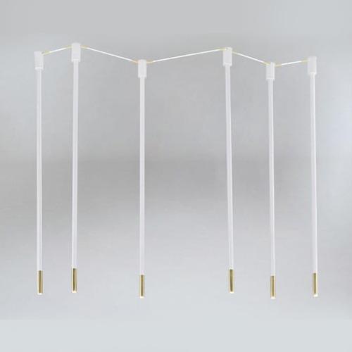 Koridoriaus apšvietimas, Pakabinamas-lubinis šviestuvas alha N 9005- DOHAR baltas su aukso spalvos galais