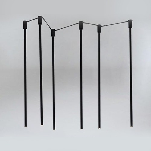 Koridoriaus apšvietimas, Pakabinamas-lubinis šviestuvas alha N 9005- DOHAR juodas