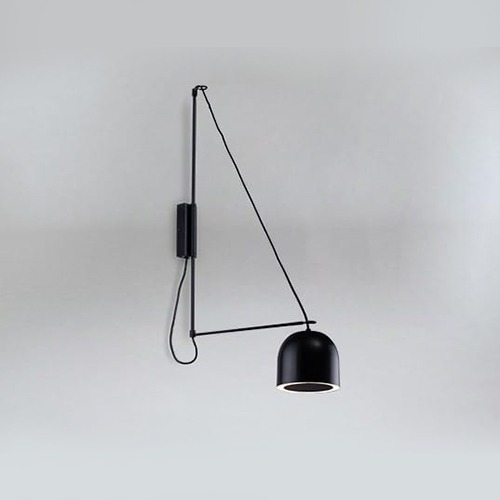 Miegamojo apšvietimas, Sieninis šviestuvas kabe 9018 DOHAR juodas