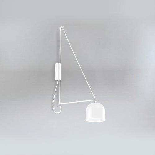 Miegamojo apšvietimas, Sieninis šviestuvas kabe 9018 DOHAR baltas