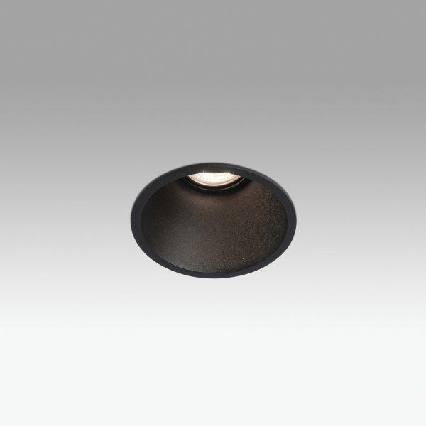 Biurų apšvietimas, Įleidžiamas šviestuvas FRESH GU10 juodas
