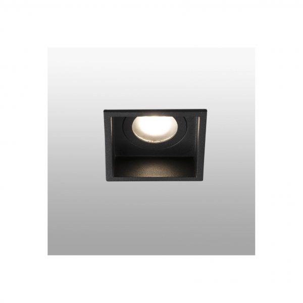 Bedroom lighting, Recessed light HYDE square black