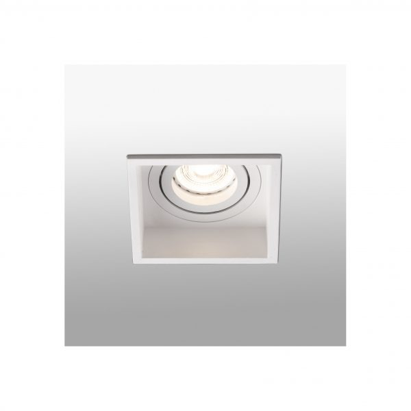 Bedroom lighting, Recessed directional light HYDE square white