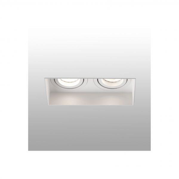 Berėmiai užglaistomi šviestuvai, Įleidžiamas berėmis užglaistomas kryptinis šviestuvas HYDE square 2L baltas
