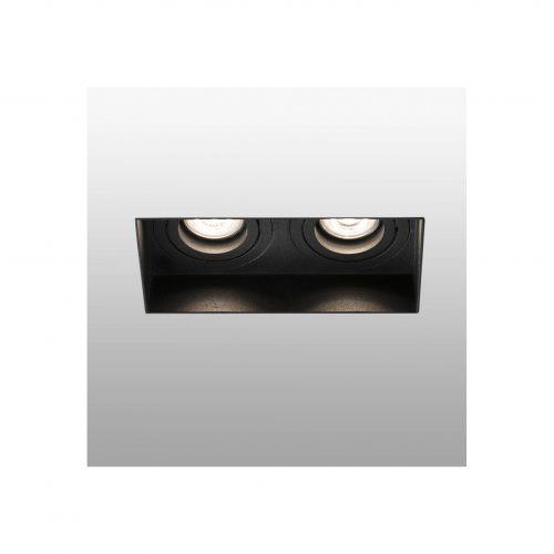 Berėmiai užglaistomi šviestuvai, Įleidžiamas berėmis užglaistomas kryptinis šviestuvas HYDE square 2L juodas
