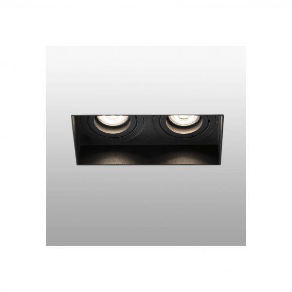 Berėmiai užglaistomi šviestuvai, Įleidžiamas berėmis kryptinis šviestuvas HYDE square 2L juodas