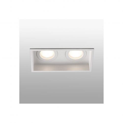 Biurų apšvietimas, Įleidžiamas šviestuvas HYDE square 2L baltas
