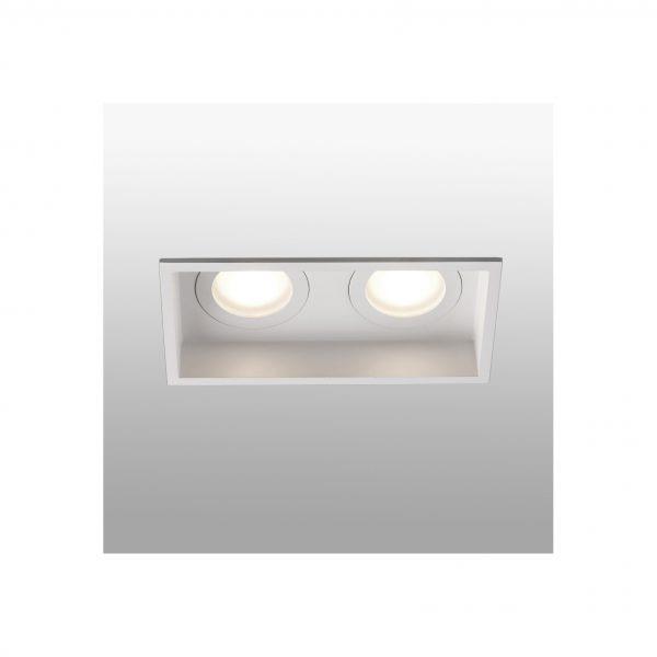 Bedroom lighting, Recessed light HYDE square 2L white