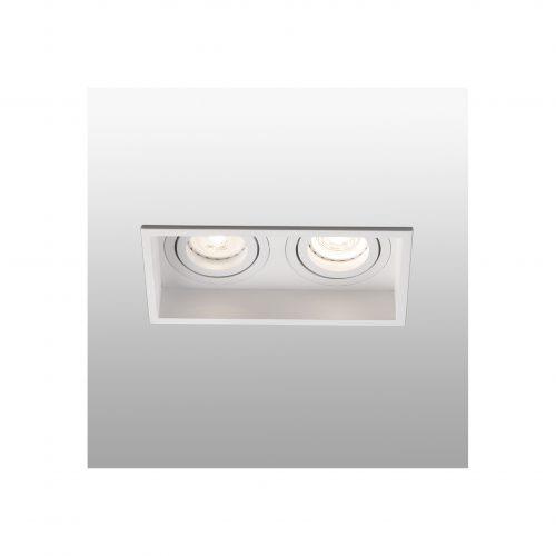 Biurų apšvietimas, Įleidžiamas kryptinis šviestuvas HYDE square 2L baltas