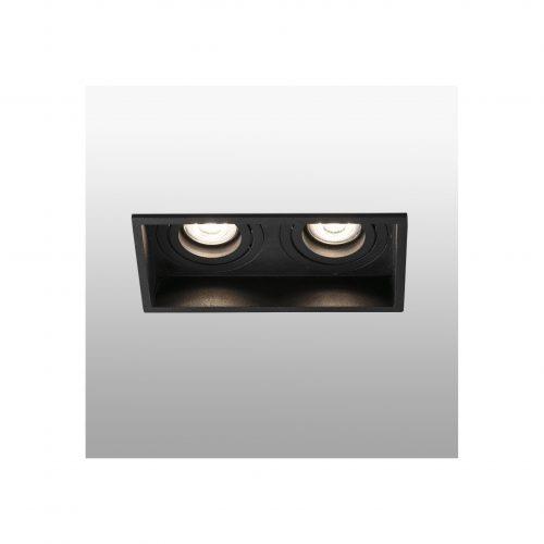 Biurų apšvietimas, Įleidžiamas kryptinis šviestuvas HYDE square 2L juodas