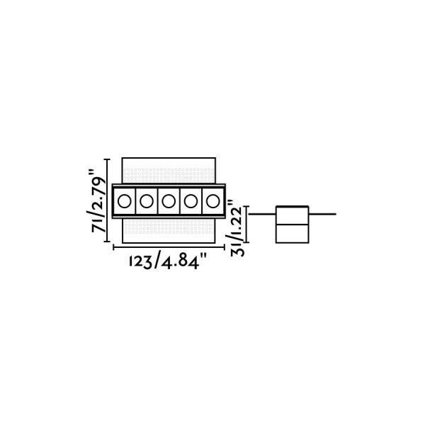 Berėmiai užglaistomi šviestuvai, Įleidžiamas berėmis šviestuvas TROOP-5
