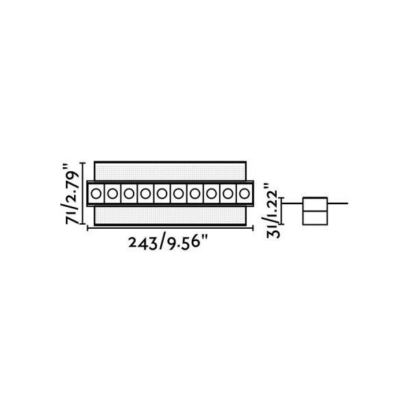 Berėmiai užglaistomi šviestuvai, Įleidžiamas berėmis šviestuvas TROOP-10