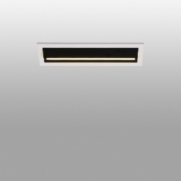 Biurų apšvietimas, Įleidžiamas sieninis šviestuvas TROOP Black wall washer